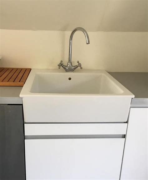 Large Ceramic Kitchen Sinks Ikea Domsjo Large Ceramic Belfast Sink Edsvik Tap Ventnor Wightbay