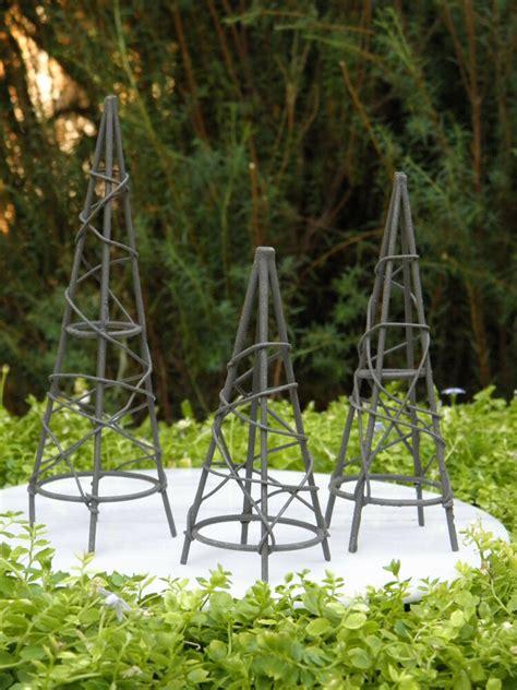 miniature dollhouse fairy garden furniture rustic iron