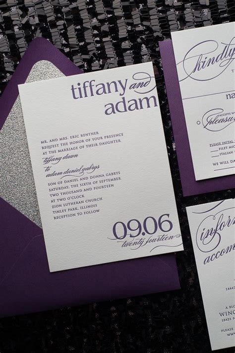 Wedding Invitation Suite Packages by Cynthia Suite Styled Glitter Package