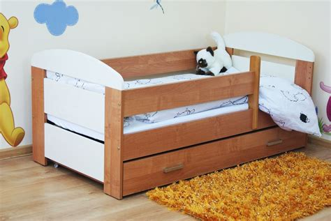 toddler bed kate 140x70 cream and alder drawer