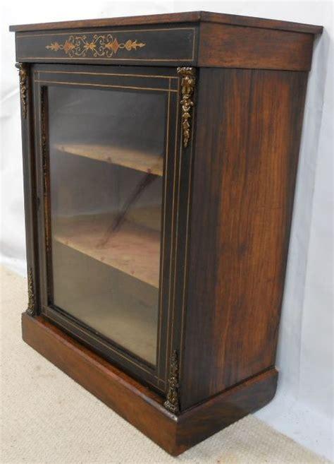 small inlaid ebonized display cabinet 177549