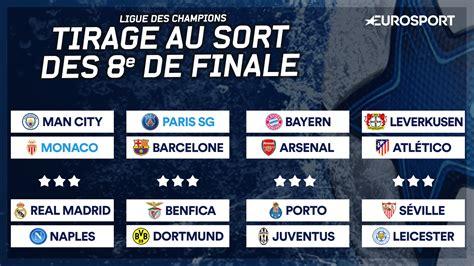 Calendrier Ligue Des Chions 8eme De Finale 2016 Manchester City Pour Monaco Barcelone Pour Le Psg Les