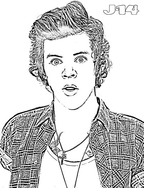 image gallery harry styles coloring pages