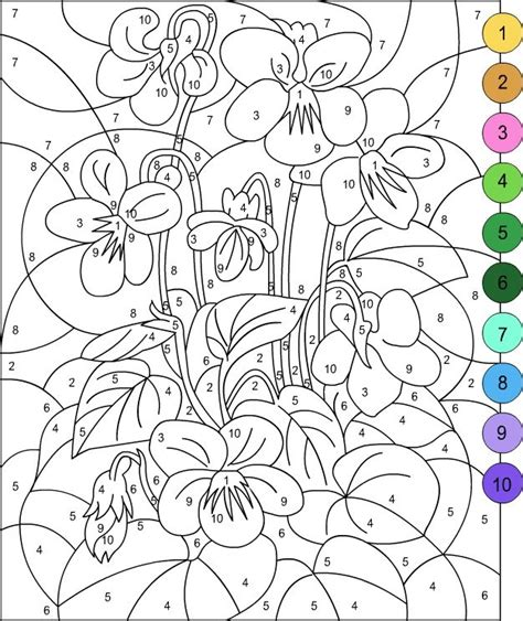 color by number for adults s free coloring pages color by number for adults