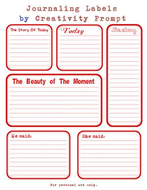 freebie friday journaling prompts labels creativity prompt