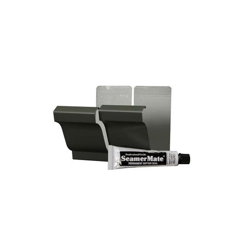 amerimax home products 5 in tux gray aluminum seamers