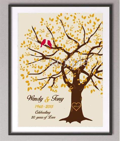 Wedding Anniversary Wishes Posters by 50th Wedding Anniversary Poster Family Tree Print Canvas