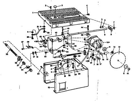 Craftsman Sears Craftsman 10 Inch Motorized Table Saw