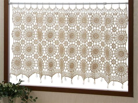 Window Hook 8 Motif 17 best images about crocheted curtains on