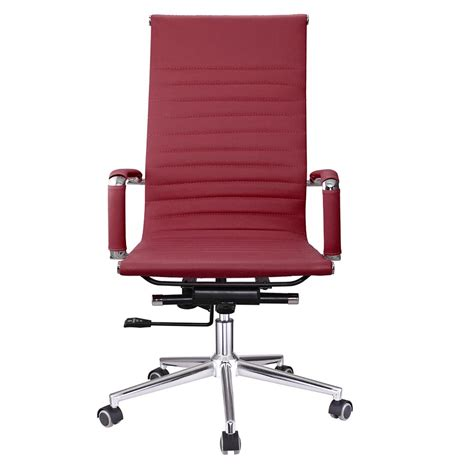 ergonomic leather office chair pu leather high back office chair executive task ergonomic