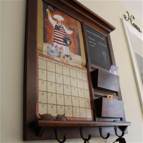 Kitchen Organizer Calendar Wall Decor Hardwood Maple With Black From Rozemake On Etsy