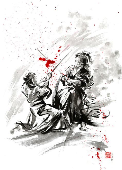 samurai bushido code painting by mariusz szmerdt