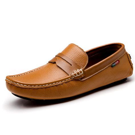 brown driving loafers loafers shoes brown white black genuine leather