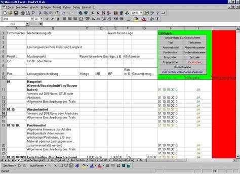 Vorlage Angebot Grafik baulv xls heise