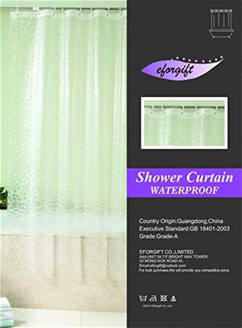 environmentally friendly shower curtain eforgift 36 inch by 72 inch eco friendly peva shower