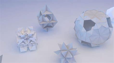 Origami Geometric - origami geometric 3d model max obj 3ds fbx mtl cgtrader