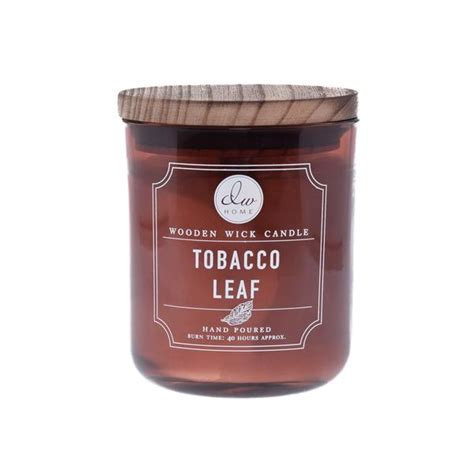 Dw Home Candles Warm Tobacco And Oak by Tobacco Leaf Dw Home Wooden Wick Scented Candles Dwd7008