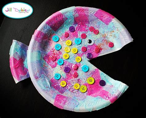 Paper Plate Fish Craft - paper plate fish crafts