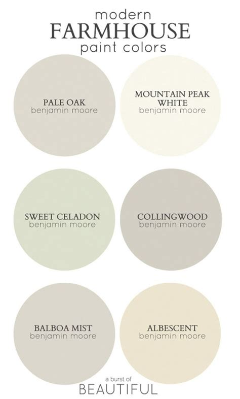 benjamin color palette modern farmhouse color palette from benjamin