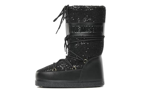 moschino snow boots moschino snow boot ankle boots in black at