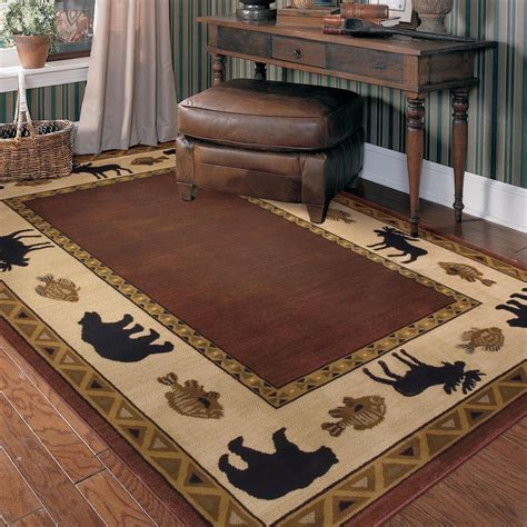 cabin style area rugs rustic flooring ideas for your home furniture home design ideas