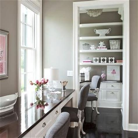 taupe paint colors contemporary den library office benjamin iron mountain decor