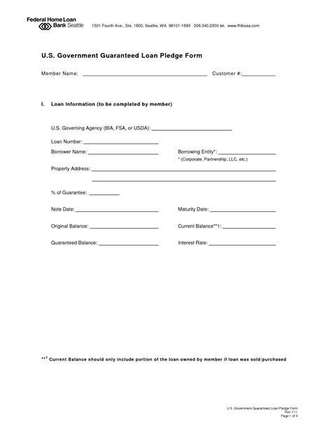 unsecured loan agreement template free 11 best images of pay rate agreement form payment