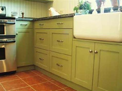 Milk Paint On Kitchen Cabinets Milk Painted Green Cabinets For The Home