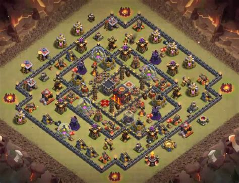 clash of clans th10 war base layout 50 latest th10 undefeated bases designs layouts 2017