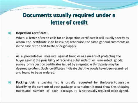 Lash Documents Letter Of Credit Letters Of Credit