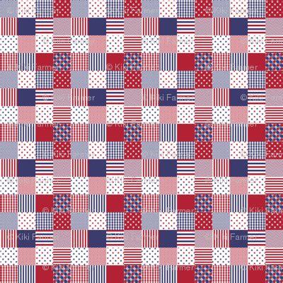 Patchwork Fabric Usa - usa americana patchwork white blue quilt fabric