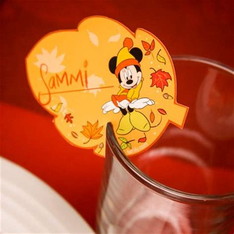 printable disney thanksgiving place cards mickey friends thanksgiving glass rim place cards