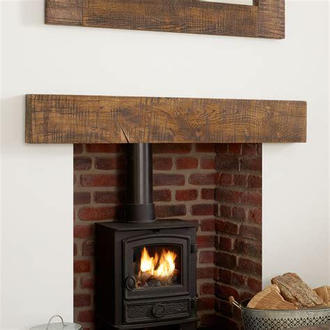 Rustic Oak Mantel Shelf by Oak Mantel Shelf Sawn Rustic Solid Beam