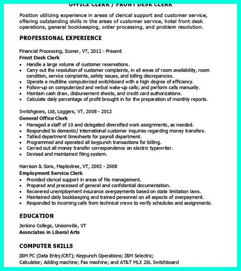 Clerical Resume Template by Best 11 Office Clerk Ideas On Sle Resume