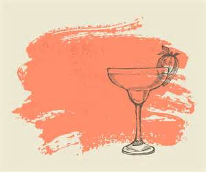 hand drawn cocktail with grunge background 03 vector