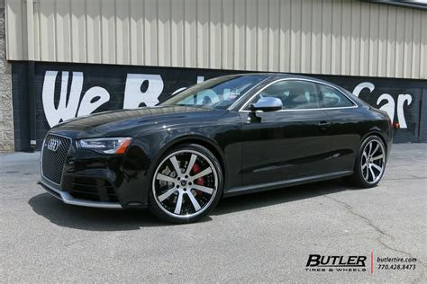 audi rs5 with 20in savini sv28c wheels exclusively from