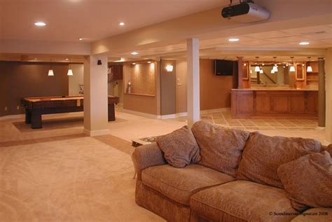 neat use of carpet to define spaces basement ideas
