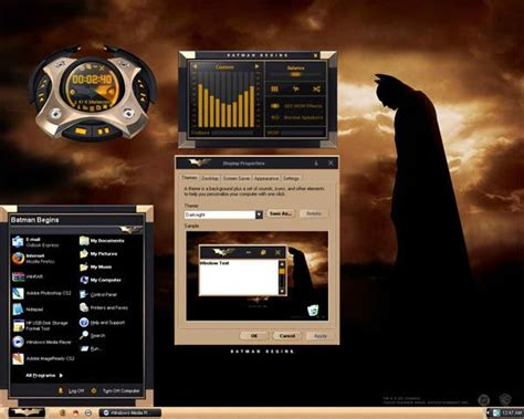 computer themes batman desktop themes batman ditani themes