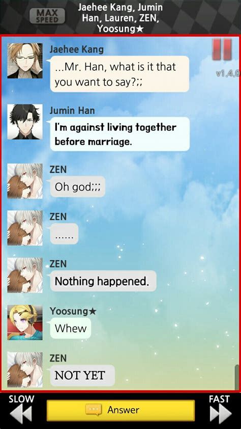 Mystic Messenger V2 Phone 1 zen route mystic messenger mystic messenger anime and