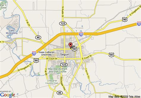 seguin texas map map of americas best value inn seguin