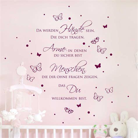 Wandtattoo Kinderzimmer Spruch by Wandtattoo Zitat Baby Spruch Da Werden H 228 Nde Sein Mit