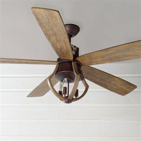 cheap rustic ceiling fans 56 quot indoor rustic wine barrel stave ceiling fan shades