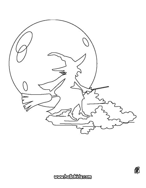 flying witch coloring page enchanteress night flight coloring pages hellokids com