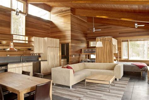 interior design with wood