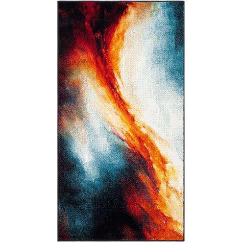 galaxy print rug safavieh galaxy orange multi 2 ft 7 in x 5 ft area rug gal112d 3 the home depot