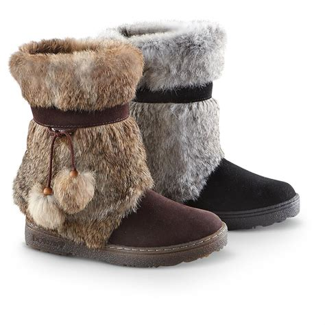boots with fur s bearpaw 174 tama ii rabbit fur boots 207233 casual