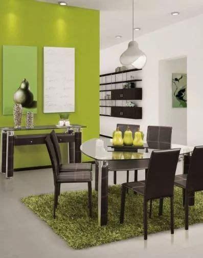 comedor triangular muebles en  decoracion verde