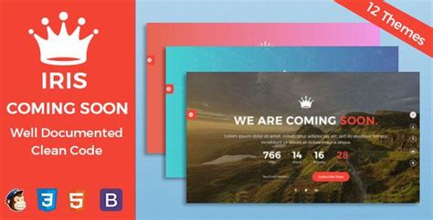 Themeforest Coming Soon | themeforest iris coming soon template under
