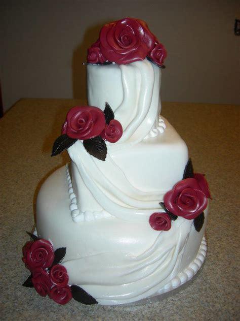 fondant drapes fondant drape wedding cake cake by deanna dunn cakesdecor