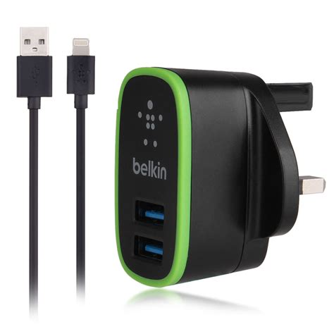 Charger Cable Lightning 2 1a 5v wholesale belkin dual usb 2 1a uk wall charger 1 2m